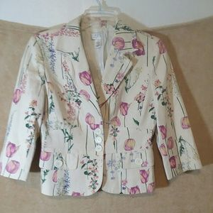 LOFT blouse jacket top size 4